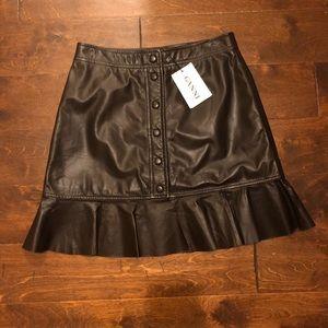 Ganni leather skirt